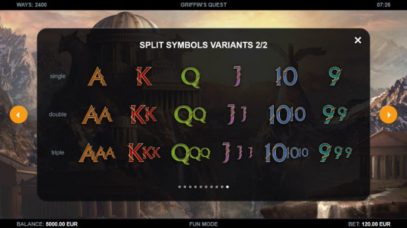 Griffin's Quest :: Split Symbols Variants