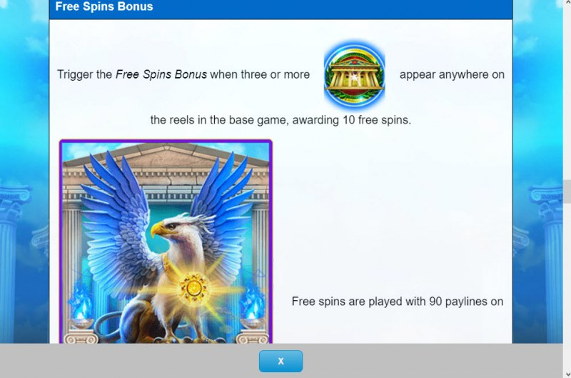 Griffin's Throne :: Free Spin Feature Rules