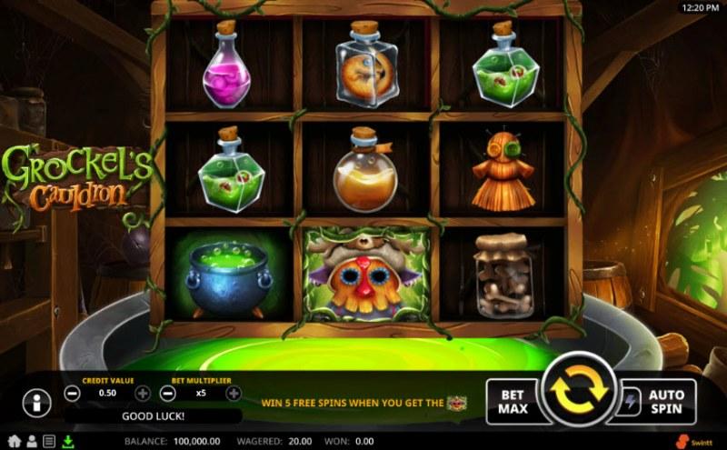 Grockel's Cauldron :: Main Game Board