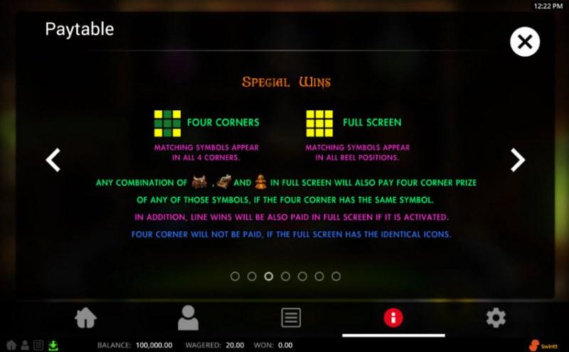 Grockel's Cauldron :: Special Wins