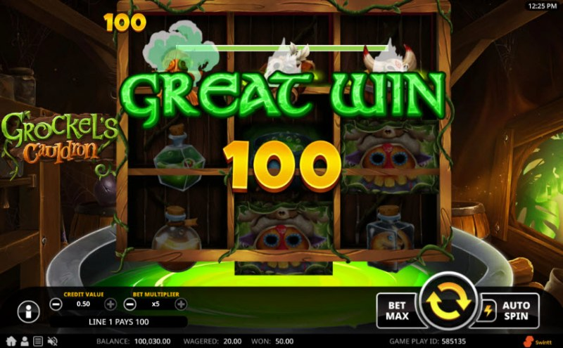 Grockel's Cauldron :: Great Win