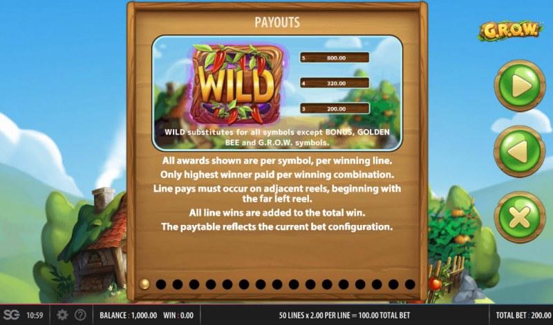 G.R.O.W. :: Wild Symbols Rules