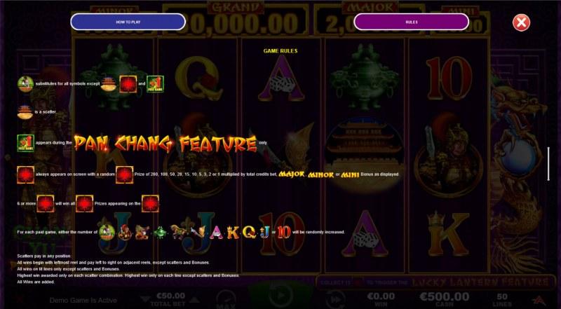 Guan Yu :: Pan Chang Feature