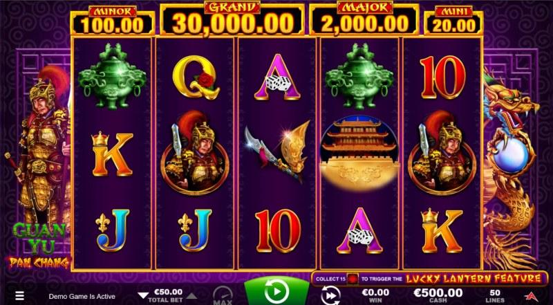Guan Yu :: Base Game Screen