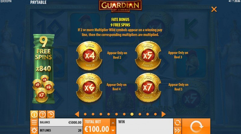 Guardian of Athens :: Free Spin Feature Rules
