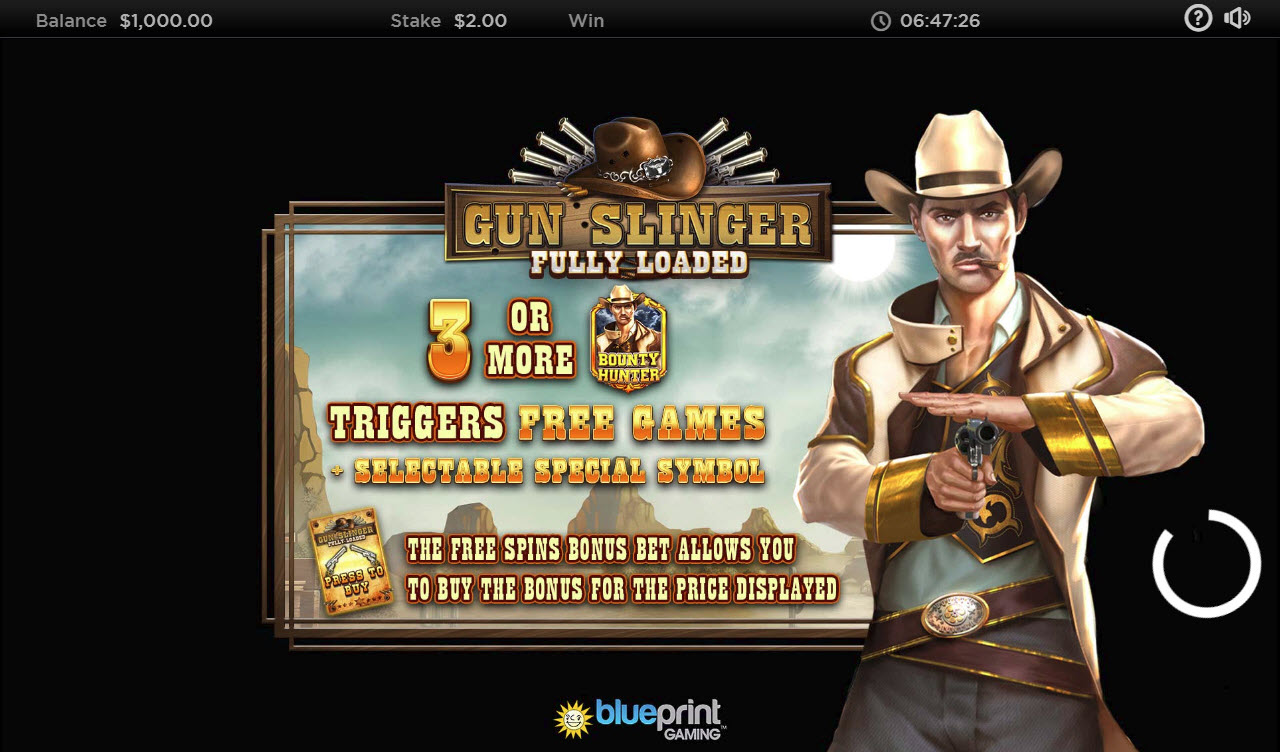 Play slots at iviCasino: iviCasino featuring the Video Slots Gun Slinger Fully Loaded with a maximum payout of $250,000