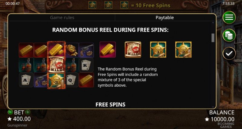 Gun Spinner :: Random Bonus Reel During Free Spins