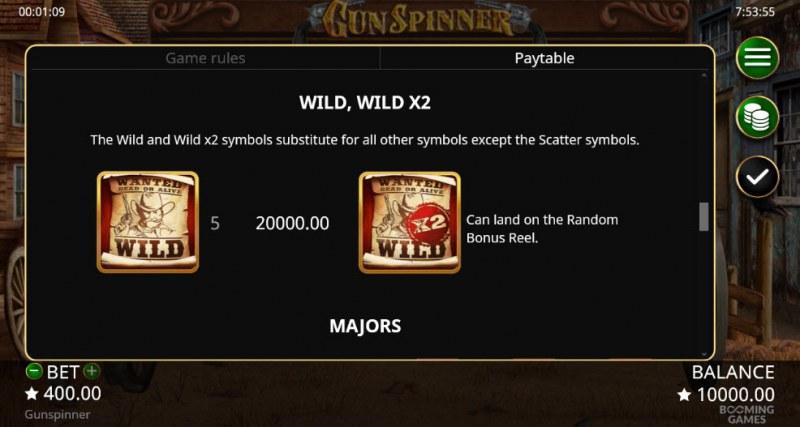 Gun Spinner :: Wild Symbols Rules