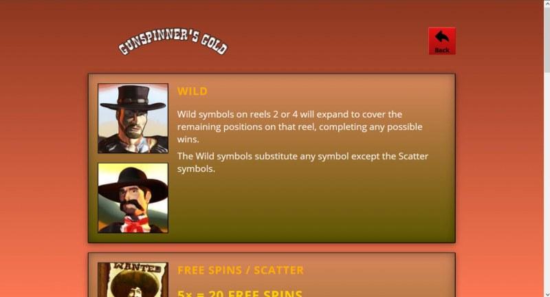 Gunspinner's Gold :: Wild Symbol Rules