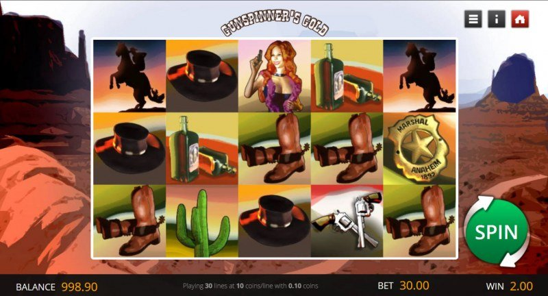 Gunspinner's Gold :: Main Game Board