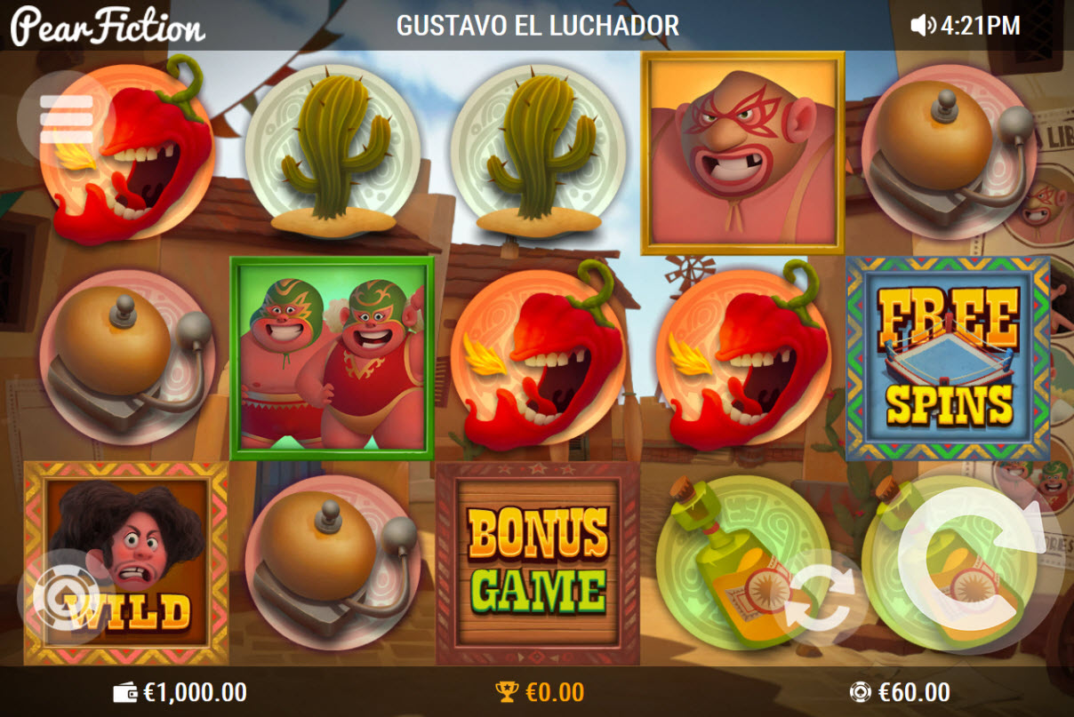 Play slots at Fruity Casa: Fruity Casa featuring the Video Slots Gustavo el Luchador with a maximum payout of $50,000