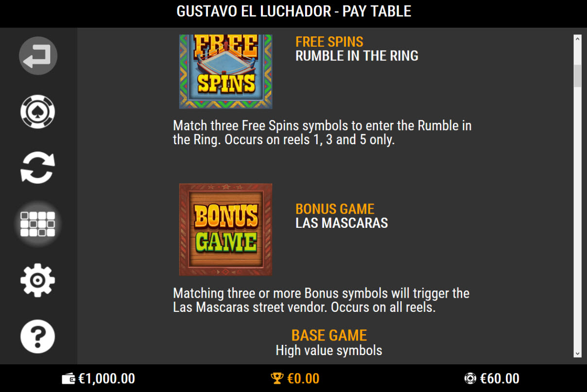 Play slots at 21 Prive Casino: 21 Prive Casino featuring the Video Slots Gustavo el Luchador with a maximum payout of $50,000