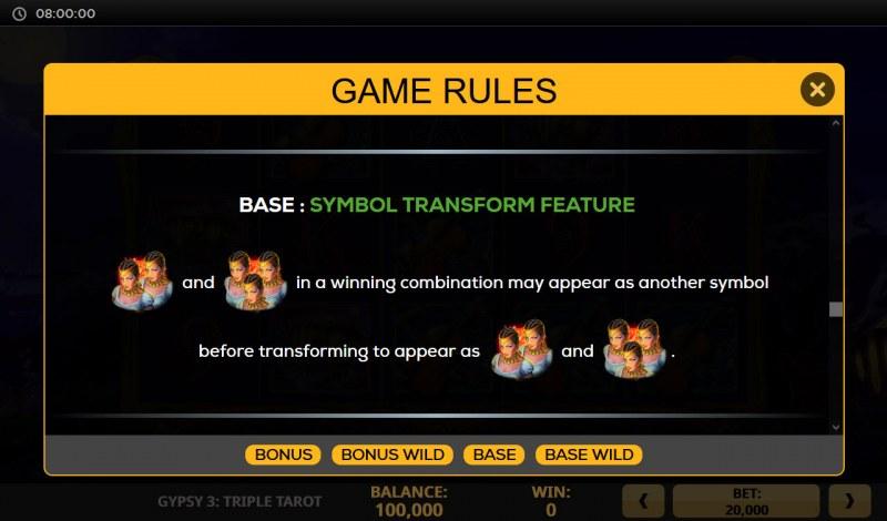 Gypsy 3 Triple Tarot :: Symbol Transformation Feature
