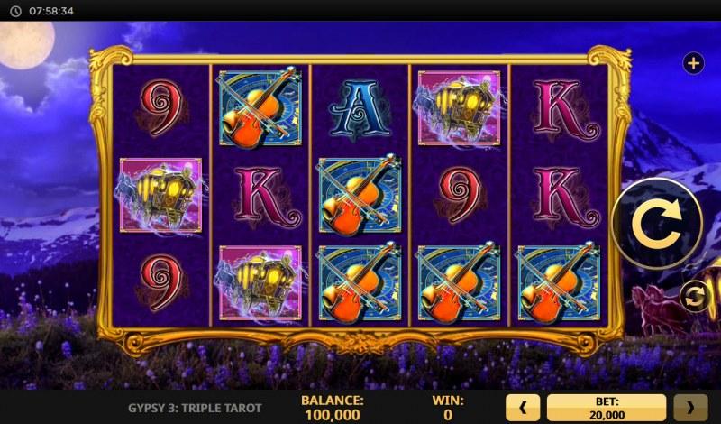 Gypsy 3 Triple Tarot :: Main Game Board