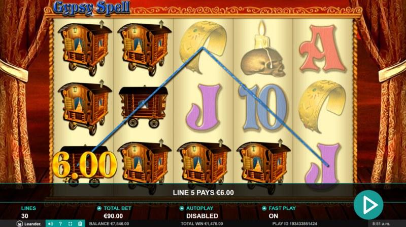 Gypsy Spell :: Multiple winning paylines