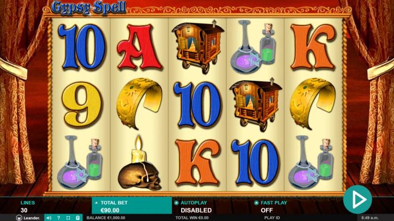 Gypsy Spell :: Main Game Board