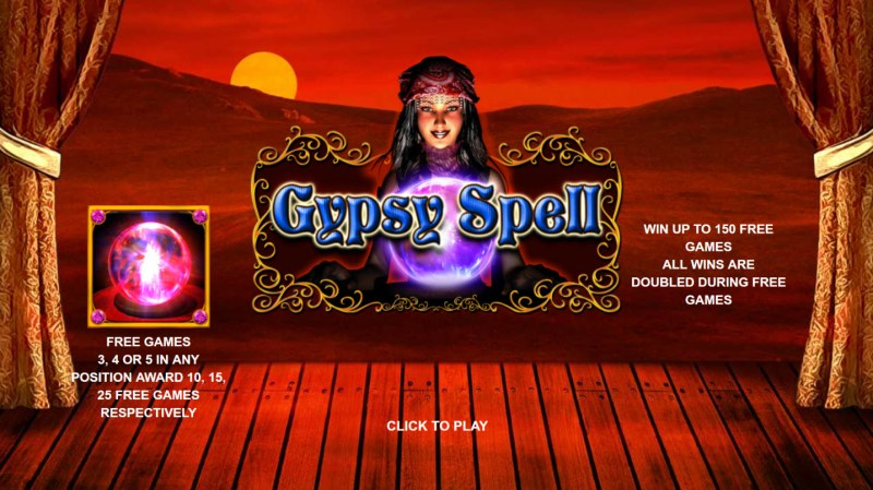 Play slots at Slottyway: Slottyway featuring the Video Slots Gypsy Spell with a maximum payout of $90,000