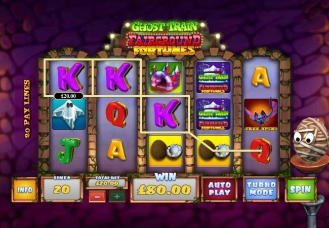 Carnival featuring the Video Slots Ghost Train Fairground Fortunes with a maximum payout of $2,000
