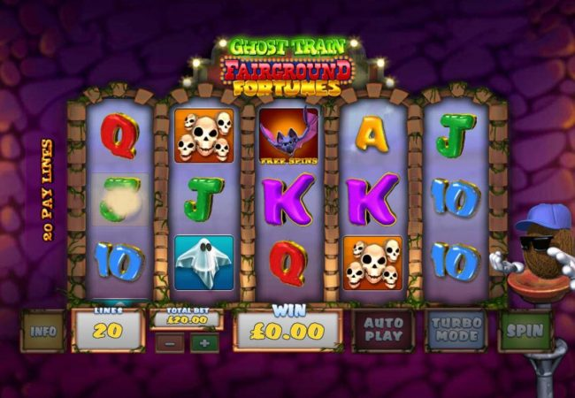 Slots Heaven featuring the Video Slots Ghost Train Fairground Fortunes with a maximum payout of $2,000