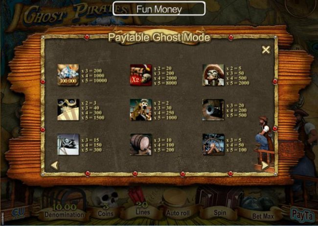 Slot game symbols paytable - Ghost Mode