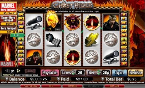 Genesis Casino featuring the video-Slots Ghost Rider with a maximum payout of 10,000x