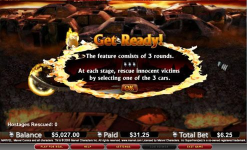 Casinia featuring the video-Slots Ghost Rider with a maximum payout of 10,000x