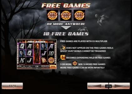 Ghost Rider :: 3 ghost rider symbols or more anywhere triggers 10 free games