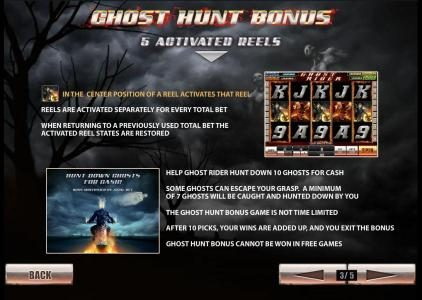 Ghost Rider :: ghost hunt bonus 5 activated reels