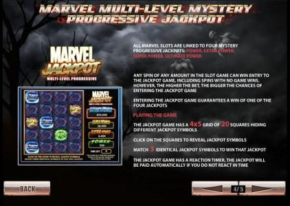 Ghost Rider :: marvel multi-level mystery progressive jackpot