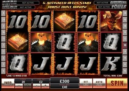 Betfred featuring the Video Slots Ghost Rider with a maximum payout of $500,000