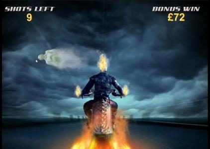 Ghost Rider :: prizes are awarded with each successful ghost hit