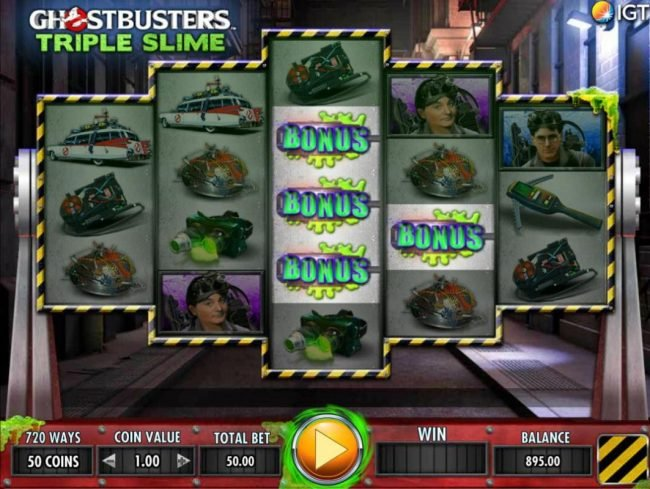 Play slots at Chomp: Chomp featuring the Video Slots Ghostbusters Triple Slime with a maximum payout of $250,000