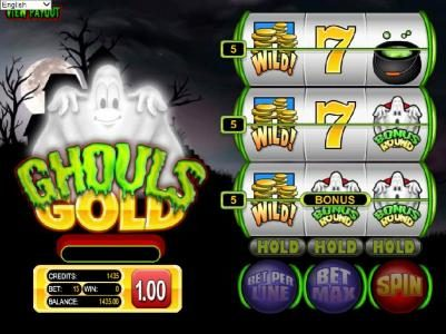 Drake featuring the Video Slots Ghouls Gold with a maximum payout of $500