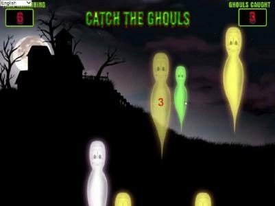 Ghouls Gold :: bonus feature game board - click as many ghols as you can to earn credits