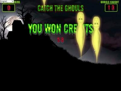 Ghouls Gold :: bonus round pays out a total of 58 credits