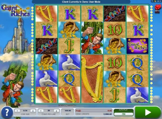 Play slots at 10Bet: 10Bet featuring the Video Slots Giant Riches with a maximum payout of $4,800
