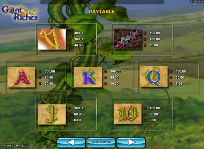 Stan James featuring the Video Slots Giant Riches with a maximum payout of $4,800