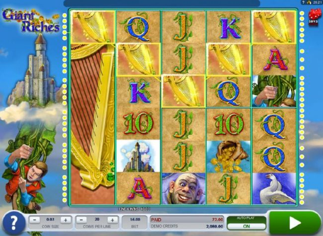 Crystal featuring the Video Slots Giant Riches with a maximum payout of $4,800