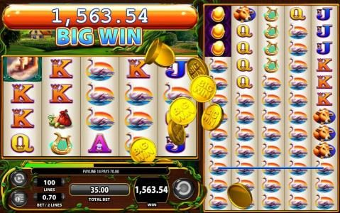 Giant's Gold :: Multiple winning paylines leads to a $1,563 super big win