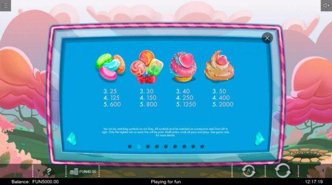 Gifts of Ostara :: High value slot game symbols paytable