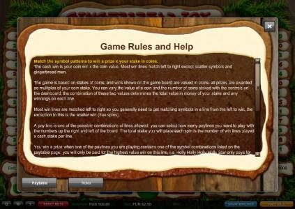 Gingerbread Joy :: Game Rules and Help - Part 1