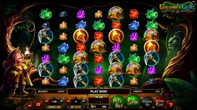 Laromere featuring the Video Slots Giovanni's Gems with a maximum payout of $2,250,000