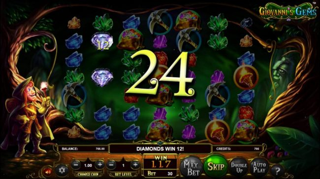 Black Lotus featuring the Video Slots Giovanni's Gems with a maximum payout of $2,250,000