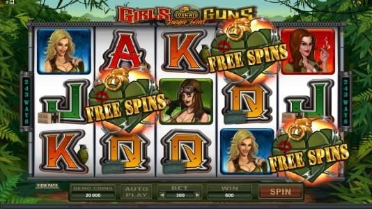 three scatter symbols trigger 15 free spins
