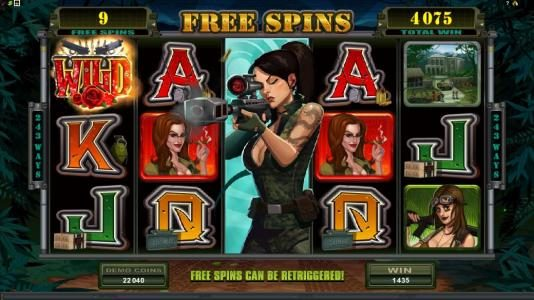 Girls with Guns - Jungle Heat :: expanded wild during free spins triggers 1435 coin jackpot