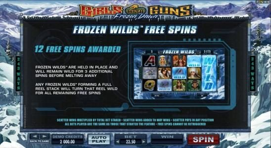 24K Casino featuring the Video Slots Girls with Guns 2-Frozen Dawn with a maximum payout of $109,250