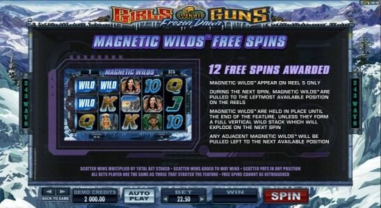 Slot Planet featuring the Video Slots Girls with Guns 2-Frozen Dawn with a maximum payout of $109,250