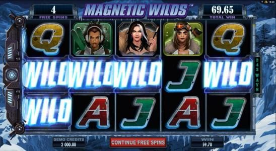 Casino Action featuring the Video Slots Girls with Guns 2-Frozen Dawn with a maximum payout of $109,250