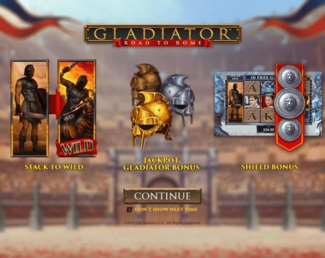Play slots at Europlay: Europlay featuring the Video Slots Gladiator Road to Rome with a maximum payout of $125,000