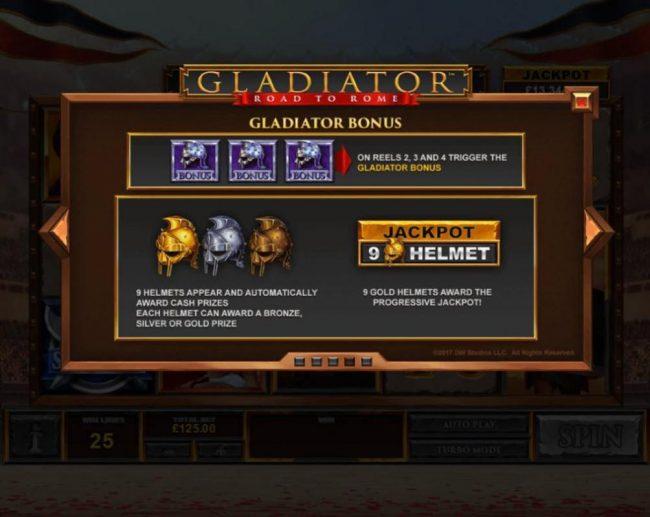 Gladiator Road to Rome :: Bonus Game Rules